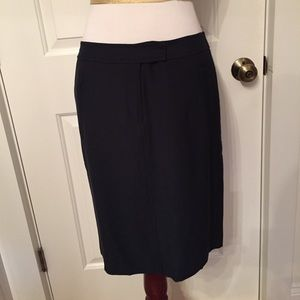 NEW W WORTH SKIRT ⚡️PENCIL NAVY BLUE KNEE LENGTH 2
